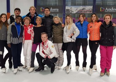 ice2impulse team coaches international skating camp Andorra